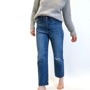 Madewell Classic Straight Jeans in Jade Wash 27